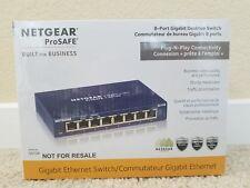 NETGEAR GS108 8-Port Gigabit Ethernet Unmanaged Switch. Brand New In Box.