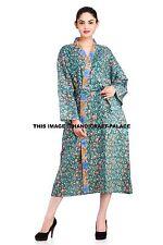 FLORAL 100% COTTON ROBE Kimono Dressing Gown Wedding Bridesmaid Indian Bathrobe