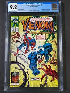 Venom: Lethal Protector #5 CGC 9.2 1993 Wt Pages 2115777009 1st app Phage,Lasher