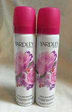 2 X YARDLEY English Peony Deodorising Body Fragrance Body Spray 75ml
