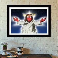 Futurama crab man poster print all sizes modern art deco,