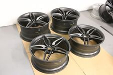SET OF 4 GENUINE ORIGINAL MCLAREN 570S STEALTH GREY 5 TWIN-SPOKE ALLOYS WHEELS