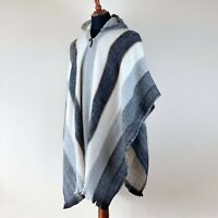 LLAMA WOOL MENS WOMANS UNISEX AMERICAN HOODED PONCHO CAPE COAT JACKET CLOAK