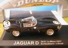 JAGUAR D # 3 24 HOURS LE MANS 1957 IXO ALTAYA 1/43 FLOCKHART BUEB BLACK NOIR