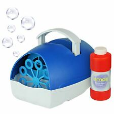 AMOS Bubble Blower Machine Maker + Fluid Portable Kids Birthday DJ Wedding Party