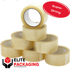 144 ROLLS EXTRA LONG /& STRONG PARCEL TAPE 48MM X150M BROWN LOW NOISE CARTONS BOX