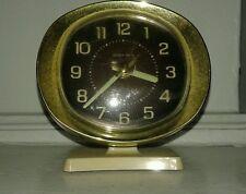 Vintage Baby Ben Westclox Cream Gold Round Alarm Clock