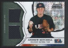 ANDREW MITCHELL 2011 BOWMAN STERLING USA XFRACTOR XDRAM DUAL JERSEY 75/199 SP