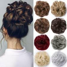 Natural Curly Messy Bun Hair Piece Scrunchie Updo Hair Extensions Real as Human