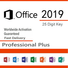 Microsoft Office 2019 Professional Pro Plus  Lifetime License Genuine Key