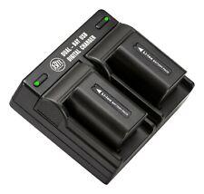 BM NP-FV50 2 Batteries & Dual Charger for Sony HDR-CX220 CX230 CX290 CX380 CX430