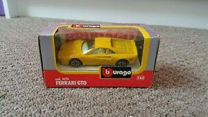Ferrari GTO 1/43 scale Burago, yellow