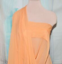 Chiffon Sheer Fabric Melon 45 Inches / By The Yard/ Formal Wear, (Reduced)