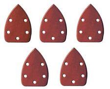 Set 5 Pezzi Carta Vetrata Abrasiva Per Levigatrice Grana 60 Goccia 105x180cm dfh