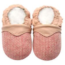 Littleoneshoes Soft Sole Leather Baby Infant Kids Girl Herringbone Shoes 0-6M