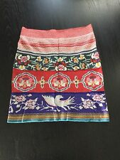 MOTH Anthropologie Women's Red Chava Pencil Sweater Skirt Sz M