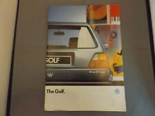 1987 VW VOLKSWAGEN GOLF BROCHURE - GL CL DIESEL TURBO