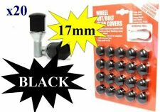 Volkswagen Lupo Wheel Nuts Covers 1998 on 17mm Black