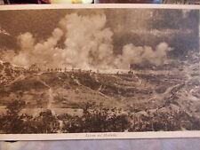 CARTOLINA WW1 LA BATTAGLIA DEL PIAVE AZIONE SUL MONTELLO  GIUGNO 1918
