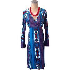 NWT Small S Aztec Bell Sleeve Tribal Print Dress Luv2Luv Boho Chic