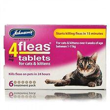 Johnsons 4 Tabletas Para Gatos y Gatitos, 6 Tabletas