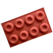 New listing 8 Cavities Donuts Molds Craft Diy Cake Tart Chocolate Baking Mould Ice Cube Tray