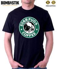 R 0444 STARPUGS COFFEE Funny Pugs For Starbucks fans T-shirt Tee Top Quality