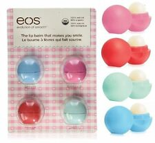 eos Organic Smooth Sphere Lip Balm 4 Pack 4 Flavors- NIP