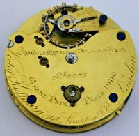 Victor Kullberg (10 Gold Medals) London Pocket Watch Movement to Restore (R78)