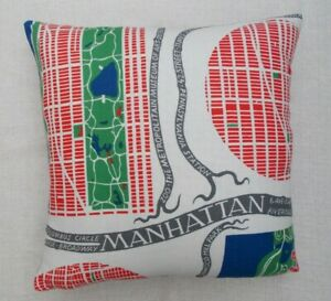 "JOSEF FRANK Fabric Cushion Cover 'MANHATTAN' - 18"" - 100% LINEN - DOUBLE SIDED"