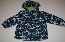 New Carter's Boys 2T Raincoat Jacket Coat White Dinosaur Bones Print Navy Blue