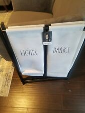 Rae Dunn Laundry Hamper Lights/Darks 2020 Hard to find! Don't Miss Out on It!