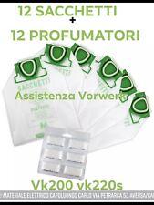 SACCHETTI VK200 VK220S FP Compatibili Vorwerk Folletto 12Sacchetti + 12Profumini