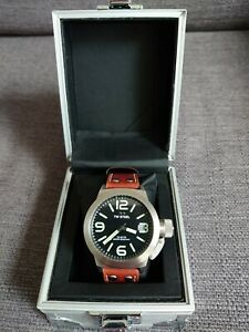 TW STEEL CS21 Canteen Brown Leather Strap Date Function