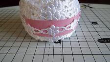 2m -White, Daisy Flower Motif - Applique,Trimming,Wedding -  Satin Lace Ribbon