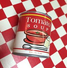 Mini Artificial Faux Fake Play Food Replica 3D Magnet Tomato Soup Can