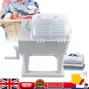 Hand Crank Mini Washing Machine Portable Roller Manual Washer Spin Dryer Home
