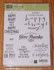 Stampin' UP RETIRED SUITE SEASONS Holidays, Sympathy, Give Thanks Halloween NIP