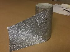 Silver chunky glitter 15cm wallpaper border grade 3 sold by metre fabric bling