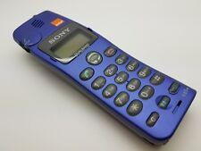 Vintage Working VGC (Orange Network) Sony CD5E Blue Mobile Phone