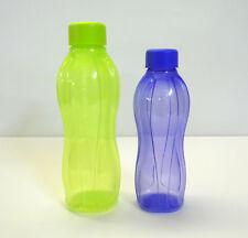 TUPPERWARE 2x EcoEasy Trinkflasche Schraubverschluß 750ml + 500ml LIMETTE/LILA
