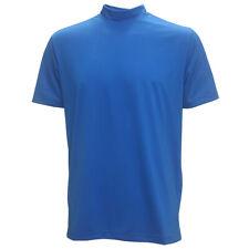 Forrester Men's Solid Shortsleeve Mock-Turtleneck Shirt NEW