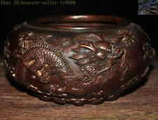 Ancient China chinese bronze temple animal Dragon statue Incense Burner censer
