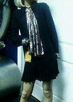 Vintage 60's Jeune Leique by Cherberg Mod / GoGo Mini Dress Black Small RARE
