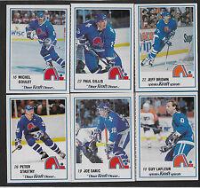 1989/90 Kraft Quebec Nordiques Team Set Factory Cut