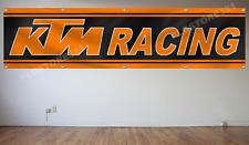 KTM Racing Flag Banner 2X8Ft Sportmotorcycle Wall Decor Flag Garage Shop