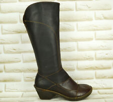 The ART Company Brown Leather Womens Knee High Long Heeled Boots Size 5 UK 38 EU