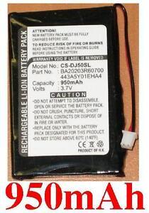 Batterie 950mAh Pour Dell jukebox DJ 5GB, DJ30, HVD3T,443A5Y01EHA4 BA20203R60700