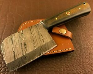 Handmade Damascus Steel Hatchet-Axe-Functional-Hunting-Camping-Outdoor-dh52
