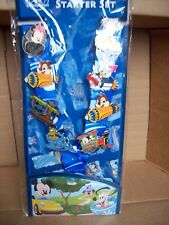 Disney Lanyard and 8 Character Ride Pins - Haunted Mansion, Tea Cups Train etc.
